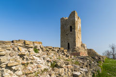 Historic feeling comes out of Ruins of medieval fortress Royalty Free Stock Photography