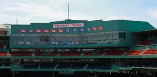 Fenway Park. Historic Fenway Park, Downtown, Boston, MA.  Home of the Boston Red Sox Stock Photo