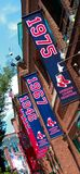Fenway Park Banners. Historic Fenway Park, Downtown, Boston, MA.  Home of the Boston Red Sox Royalty Free Stock Photo