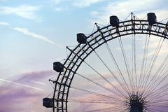 Historic Ferris Wheel of vienna prater Royalty Free Stock Images