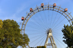 Historic Ferris Wheel of vienna prater park Royalty Free Stock Photos