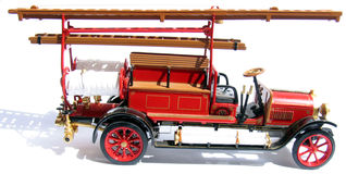 Historic firemen's car Royalty Free Stock Image