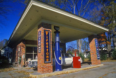 Historic Firestone gas station Stock Image