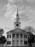 Church of Litchfield. The historic first congregational church of Litchfield Stock Image