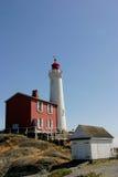 Historic Fisgard Lighthouse. Fisgard Lighthouse, Victoria B.C., Canada Stock Photography
