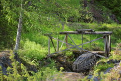 Historic fish trap in Naesaaker in Sweden, as it was used in the stone age Stock Image