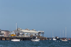 Historic Fishermans Wharf at Monterey Harbor and Marina Stock Photography