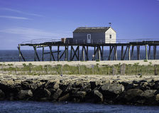 Historic Fishermens clubhouse on Jersey shore near Stock Image