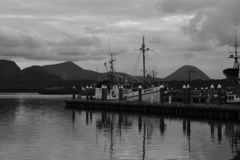 Historic Fishing Boat Sand Point Alaska Royalty Free Stock Image
