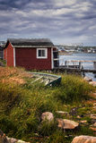 Historic Fishing Stages Of Fogo Island Royalty Free Stock Photos