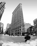 The Historic Flat Iron Building in New York City, New York USA - Black & White Royalty Free Stock Photography