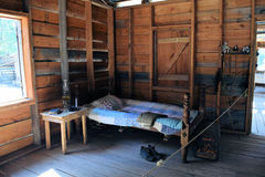 Pioneer Log Cabin bedroom Royalty Free Stock Photography