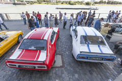 Historic Ford Capri Cars in Cologne royalty free stock image