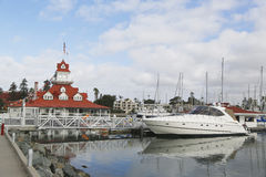 The historic former Hotel Del Coronado boathouse on Coronado Island Stock Photography