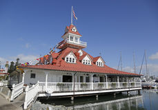 The historic former Hotel Del Coronado boathouse on Coronado Island Royalty Free Stock Images