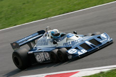 Historic formula 1. Historic formula one, during a race in Monza, Italy Royalty Free Stock Photography