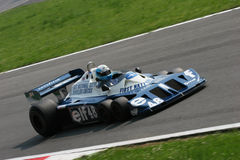 Historic formula 1. Historic formula one, during a race in Monza, Italy Stock Image