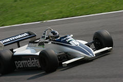 Historic formula 1. Historic formula one, during a race in Monza, Italy Royalty Free Stock Photos