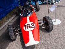Historic Formula car. Historic racing car photographed during Brno Grand Prix Revival event on 5 July 2014 in Automotodrom Brno, Czech Republic Royalty Free Stock Photography