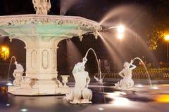 Historic Forsyth Park Fountain Savannah Georgia US royalty free stock images