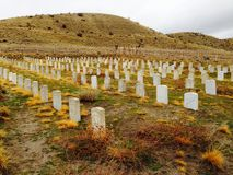 Historic Fort Boise Military Reserve Cemetery, Boise Idaho. royalty free stock images