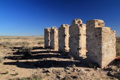 Fort Craig Ruins Stock Images