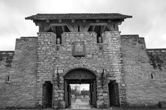 Historic Fort De Chartres in southern Illinois Stock Images