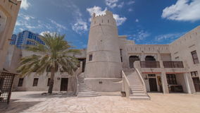 Historic fort at the Museum of Ajman timelapse stock footage