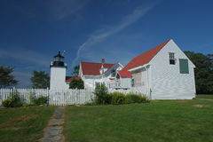 The Historic Fort Point Lighthouse Royalty Free Stock Photos
