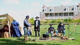 Historic Fort Wayne Detroit MI. A Civil War reenactment camp Stock Image