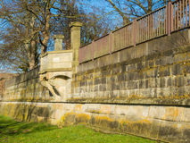 Historic fortification on the Weserwall Royalty Free Stock Images