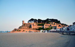 Castle in Tossa de Mar in Costa Brava, Catalonia, Spain Stock Photos