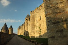 Historic fortified city of Carcassone Stock Images