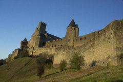 Historic fortified city of Carcassone, France Stock Images