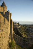 Historic fortified city of Carcassone, France Royalty Free Stock Image