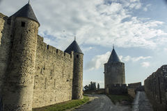 Historic fortified city of Carcassone, France Stock Photos