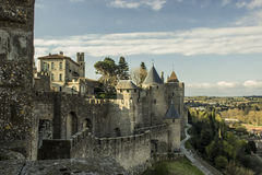Historic fortified city of Carcassone, France Stock Image