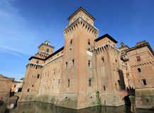 Historic fortress of Ferrara Royalty Free Stock Images