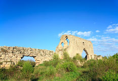 Historic fortress stony walls (Crimea, Ukraine) Royalty Free Stock Image