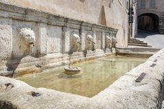 Historic fountain in Assisi, Italy Royalty Free Stock Image