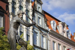 A historic fountain in Gdansk Royalty Free Stock Photo