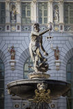 A historic fountain in Gdansk Royalty Free Stock Images