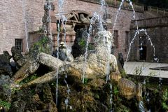 Historic fountain in Heidelberg, Germany Stock Photos