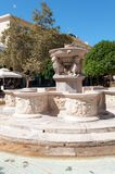 Historic Fountain. The historic Morosini Fountain in Lions Square, Heraklion, Crete, Greece, which was built in 1628 to supply drinking water to the city Stock Image