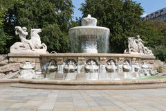 Historic fountain in Munich, Germany Stock Photos