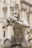 Historic Fountain in Piazza Navona Stock Photo