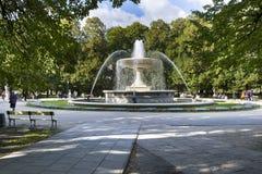 Historic fountain in Saski park, Warsaw, Poland Royalty Free Stock Photos