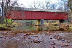 Historic Frankenfield Covered Bridge Bucks County Stock Photos