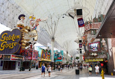 Historic Fremont Street in Las Vegas Stock Photos