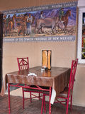 Historic Fresco in the Old Town of Albuquerque with its many galleries in New Mexico USA. The true Southwest of the USA in Albuquerque, New Mexico   with a rich Royalty Free Stock Photos